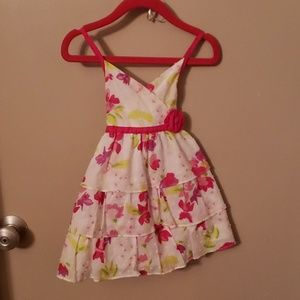Floral sundress with diaper cover
